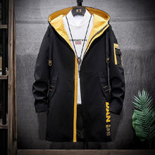 Load image into Gallery viewer, Long Style Hooded Men's Jacket Letter Printing Warm Coat