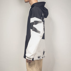 Men's Girls Hoodies Oversized Patchwork Print Harajuku