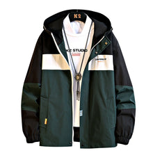 Load image into Gallery viewer, Anorak Jacket Mens Hooded Windbreaker Coat