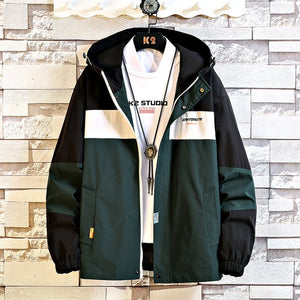 Anorak Jacket Mens Hooded Windbreaker Coat