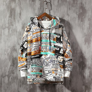 Mens Hoodies Oversized Japanese Cartoon pop art Harajuku
