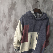 Load image into Gallery viewer, Long Size Knitwear Cotton Pullover Loose Hooded