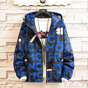 Men's Thin windbreaker Jackets Waterproof Hooded coat