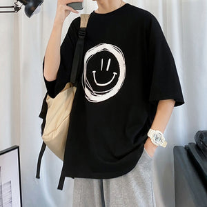 Smile T-shirts Loose Fit Oversized