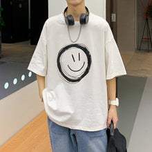 Load image into Gallery viewer, Smile T-shirts Loose Fit Oversized