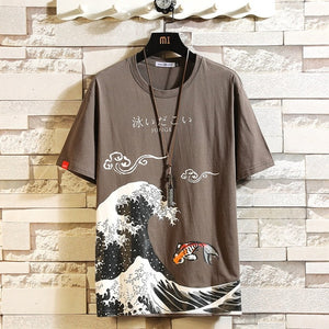 Japan Big Wave Print T-Shirt