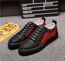 Load image into Gallery viewer, Aphixta Designer rivets Casual Shoes Spikes Low top
