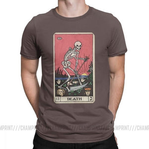 Death Tarot T-Shirt for Men 100% Cotton T Shirts Plus sizes 4XL