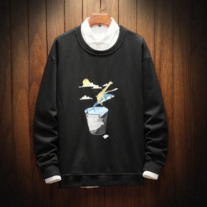 Funny Whale Print Sweatshirts Men/Woman