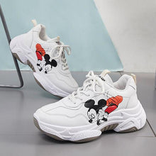 Load image into Gallery viewer, Casual Shoes Female Disney Mickey Cartoon Platform Sneakers