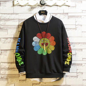 Murakami flower Sweatshirt Plus Size M-5XL