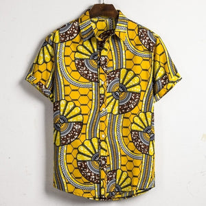 Men Dashiki Loose Shirt African Ankara Retro Clothing