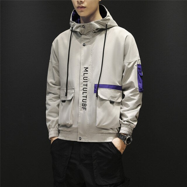Jacket Slim Fit High Quality Hooded Casual Jackets Zipper