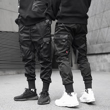 Load image into Gallery viewer, Black Pocket Cargo Pants Hip Hop Trousers