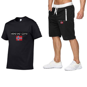Napapijri Print of 2-piece tracksuit set T-shirt and shorts men's no tags