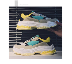 Unisex Balenciaga `Style` Triple S chunky sneakers Leather and Mesh