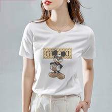 Load image into Gallery viewer, New Women's T-shirt Airplane Graphic Print T-shirt Women Funny Mouse Harajuku Women's Short Sleeve T-shirt Fashion T-shirt Women