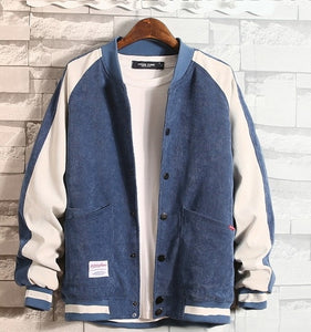Baseball Jacket Mens with Button College Corduroy