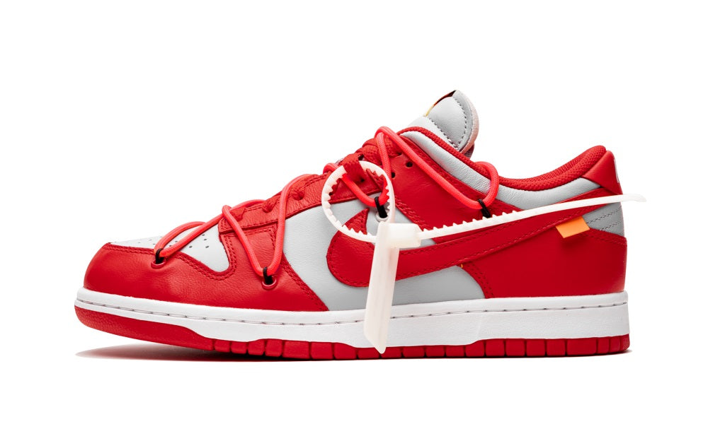 Nike SB Dunk Low Pro Sneakers `OFF WHITE` Red