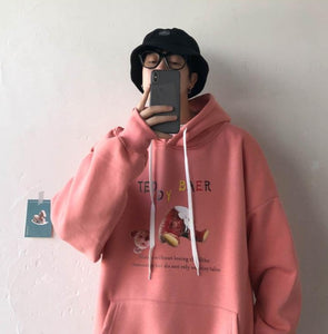 Teddy Bear Oversize Hoodie Plus Size Male / Female
