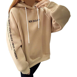Sweat Women Casual Pullover Loose Thickened Feminine Hoodies