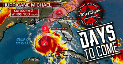 Dirtbag Artists DAYS TO COME assist Hurricane Michael relief