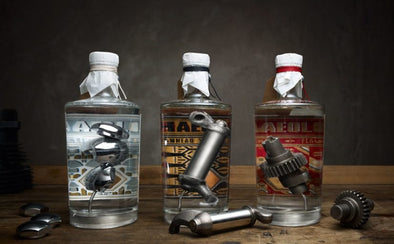 A New Gin Infused With Vintage Harley Davidson Parts