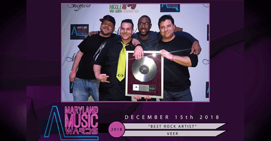 Dirtbag Endorsed Artists VEER win BEST ROCK ARTIST at the Maryland Music Awards