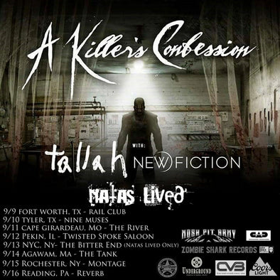 "Dirtbag Endorsed Artists ""NATAS LIVED"" announce tour with A Killer's Confession"