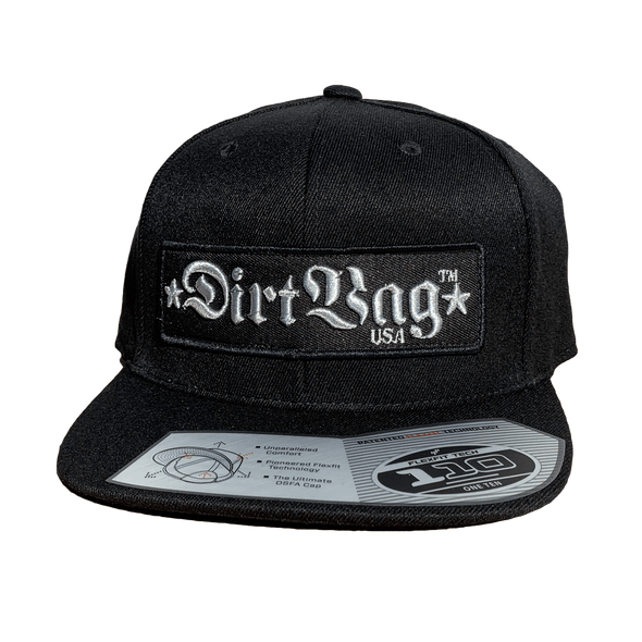 BADASS - Core - Silver 3D 110 Flat Bill Hat