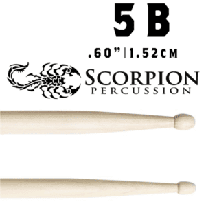 Scorpion Percussion Drumsticks 5B