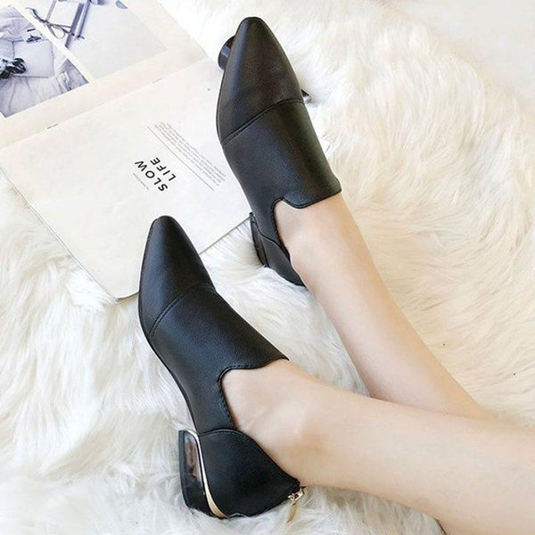 Pointed Toe Slip-On Block Heel Casual Low Heel (1-3cm) Thin Shoes