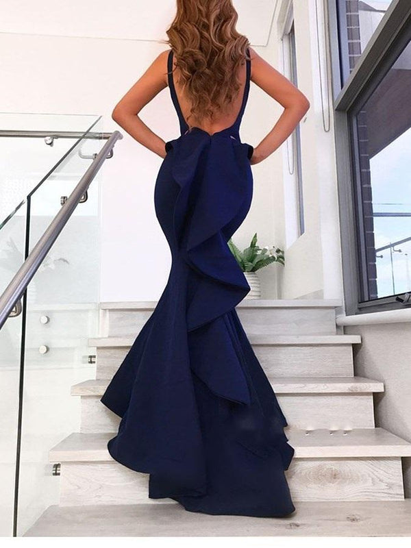 Straps Trumpet/Mermaid Sleeveless Floor-Length Evening Dress