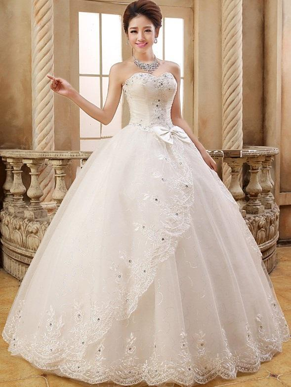 Sleeveless Ball Gown Sweetheart Beading Hall Wedding Dress