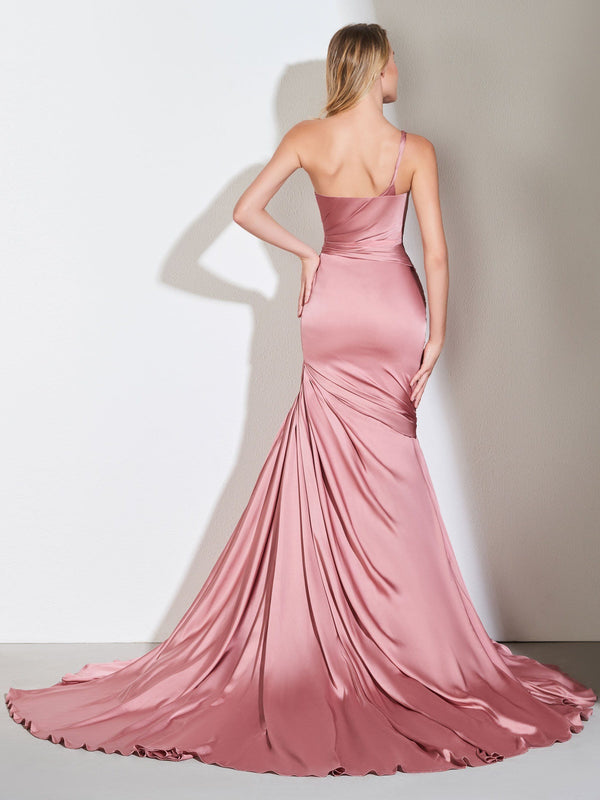 Court Floor-Length Sleeveless Trumpet/Mermaid Evening Dress
