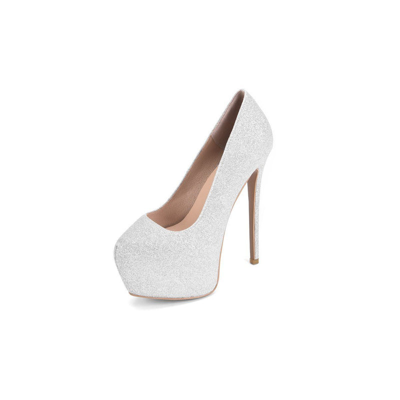 Slip-On Round Toe Ultra-High Heel(≥8cm) Thin Shoes