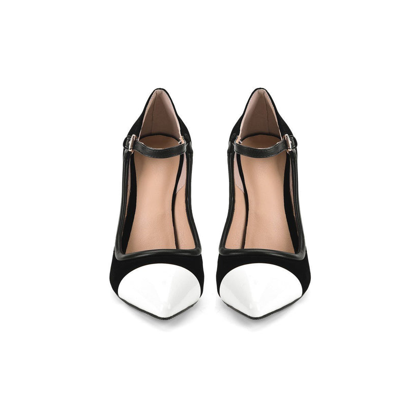 Pointed Toe Slip-On Ultra-High Heel(≥8cm) Thin Shoes
