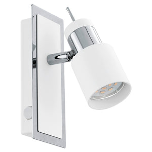 DAVIDA SP 1X5W GU10 4000K LED WHITE & CHROME