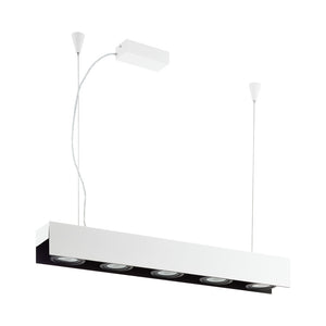 BADALONA H/L 5X5W 3000K LED WHITE & BLACK