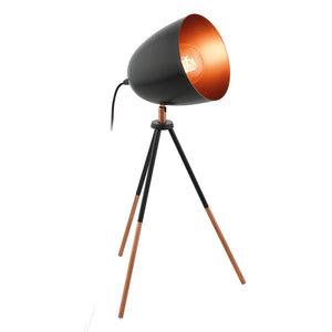 CHESTER T/L 1X60W E27 BLACK & COPPER