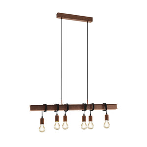 TOWNSHEND 4 H/L 6X60W E27 ANTIQUE BROWN