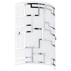 BAYMAN W/B 1X60W E14 WHITE W CHROME DECOR
