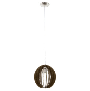 COSSANO H/L 1x60W E27 DARK BROWN WOOD 300MM