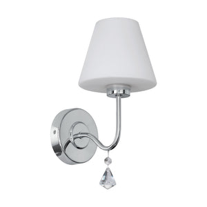 LORETTO W/B 1X3W 3000K G9 LED CHROME/OPAL/CRYSTAL