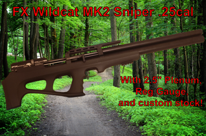 Refurbished FX Wildcat MK2 Sniper .25cal with upgrades