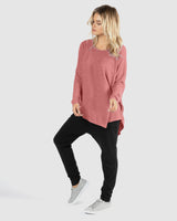 Darcy Top - Dusty Rose