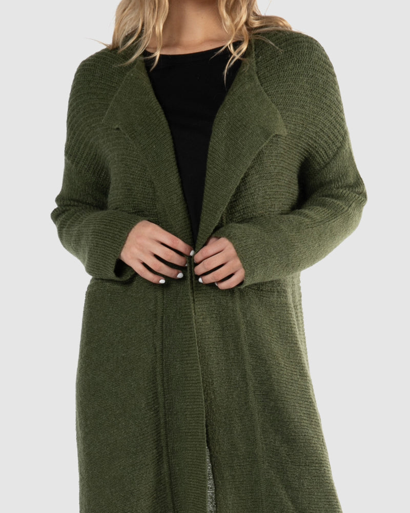 Layla Knit Cardigan - Fern