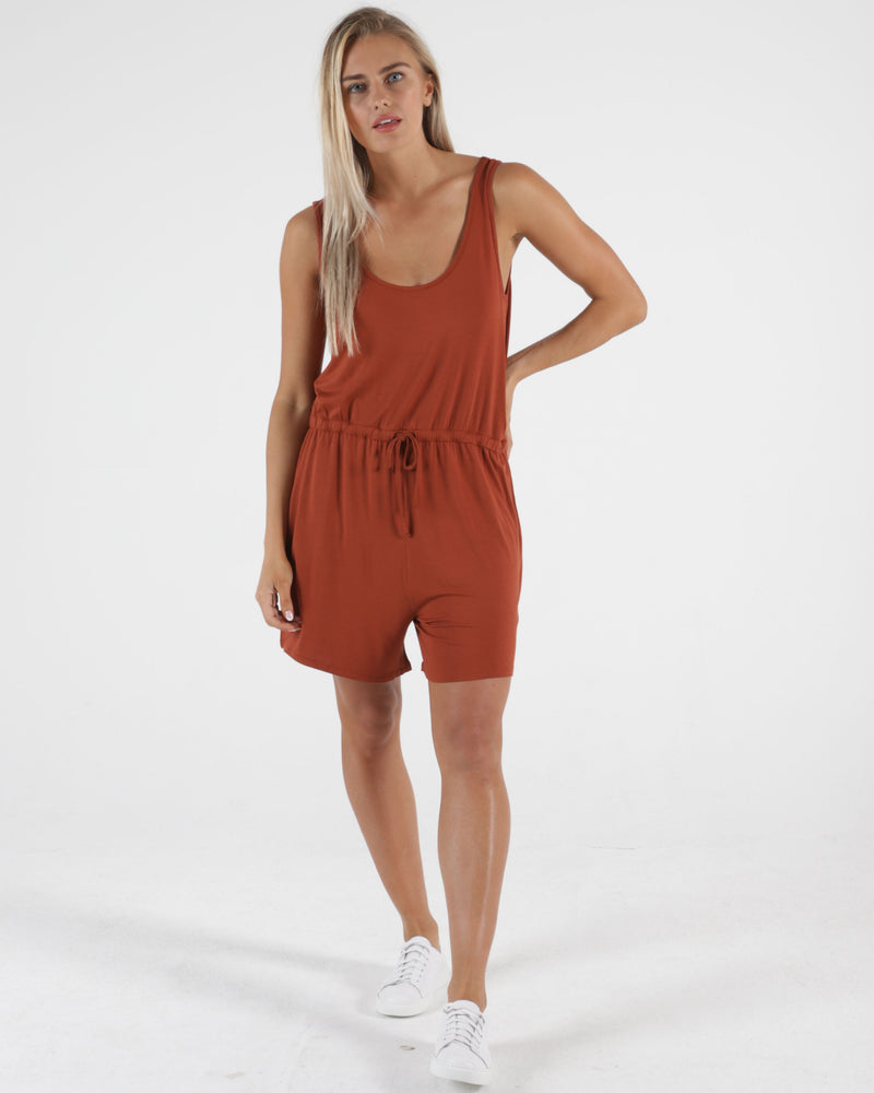 Laguna Playsuit - Terracotta