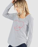 Megan Long Sleeve Top - Lover