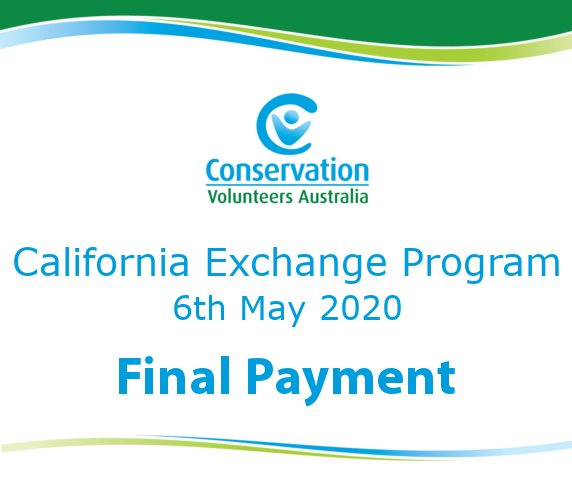 2020 California Exchange Program Final Payment